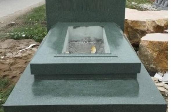 Beautiful granite tomb